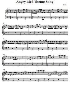 Angry birds piano sheet