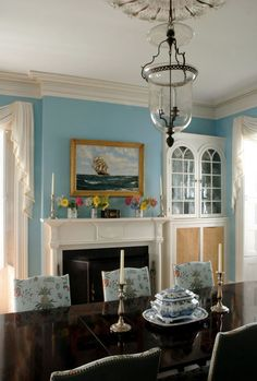 Thomas Jayne: The dining room of a historic house on Nantucket