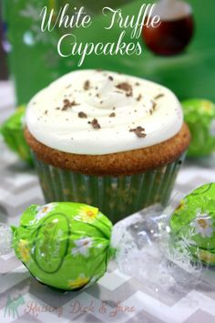 LINDOR White Truffle Cupcakes from @Mary {Raising Dick and Jane}!
