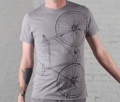 bicycles, bicycl tee, gift ideas, fixi bike, holiday gifts, t shirts, men cotton, guy gifts, christmas gifts