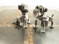 Papi & Guapo, nuts and bolts boxers by Brown Dog Welding, via Flickr