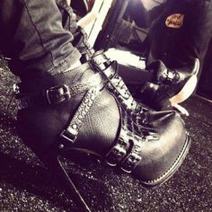 Biker style boots