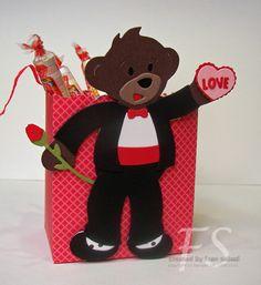Stampin' Up!  Fancy Favor Box  Fran Sabad  Valentine