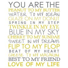 you are . . .