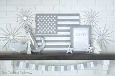 4th of July Patriotic Mantle - The Crafted Sparrow
