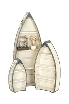 Wood Boat Shelves - Set of 3 on HauteLook