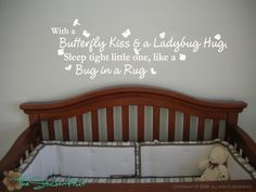 With a Butterfly Kiss and a Ladybug Hug Sleep by thestickerhut, $17.99