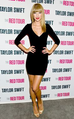 Taylor Swift flashes more skin than usual in this sexy LBD, and we love it! #fashion