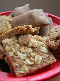 Even my dog loves Peanut Butter:  Peanut Butter and Oatmeal Dog Treats