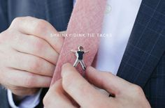 Great DIY from Oh Happy Day for Shrinky Dink tie tacks of the kids. #fatherhood #love #kids