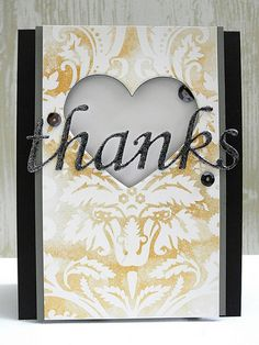 Elegant Thanks card by Jennifer Ingle