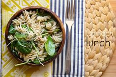 just spinach.  just pasta.