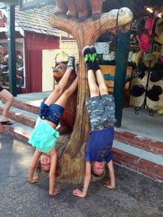Basic Gymnastics on a hike CrossFit Kids
