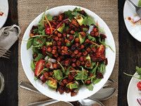 Smokehouse Chickpeas 'N' Greens Salad From 'Salad Samurai' | Serious Eats