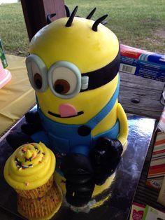 Kevin the Minion Birthday Cake  Minion Cakes!  Pinterest