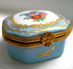 Antique Miniature Limoges Box