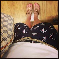 Anchor shorts. #preppy #nautical