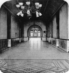 Interior tile pattern. Salt Lake City, City and County Building P.34 :: Utah State Historical Society - Classified Photographs