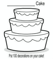 Put 100 decorations on your cake for 100th day of school!