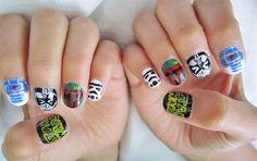 Star Wars inspired nail art.