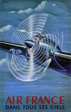 Vintage advertising poster - Air France