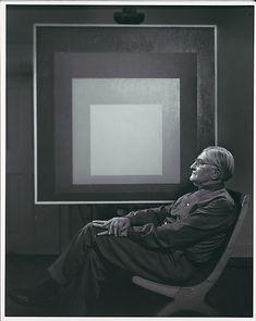 artists, boston, josef albers, 1966, black white, artist portrait, art education, yousuf karsh, artista