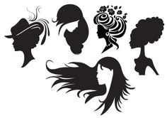 Free Woman Digital Stamps | Freebie: Women Silhouettes Digital Stamps · Stamping | CraftGossip ...
