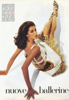 """Carillon"", Vogue Italia, March 1992Photographer: Patrick DemarchelierModel: Yasmeen GhauriStyling: Manuela Pavesi  ( Source: The Fashion Spot )"