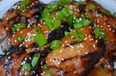Barbequed Asian Chicken Thighs