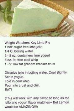 Weight watchers key like pie