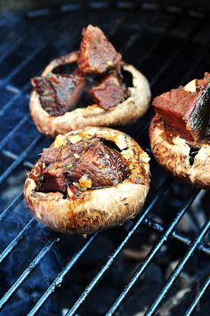 Balsamic Glazed Beef Stuffed Mushrooms from addapinch.com  .... drool.... (Definitely did a double take when I saw this- holy yum.)