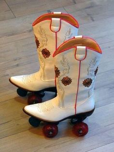 This is what roller blades look like in Texas! LOL!!!