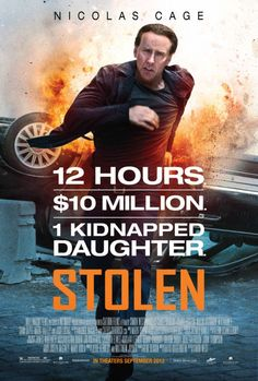Poster and Photos for the Nicolas Cage Thriller STOLEN