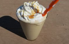 Skinny Caramel Frappe - says there are only 65 calories in the entire drink!
