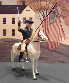 Vintage 1958 Toy Patriotic George Washington Horse Hartland Plastics Fathers Day 4th of July.  via Etsy.