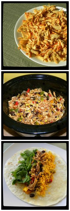 EASY! Crock Pot Mexican Chicken AND Veggies - great way to get the whole family to enjoy a healthy, delish meal. And it would be a fabulous addition to any picnic or potluck.