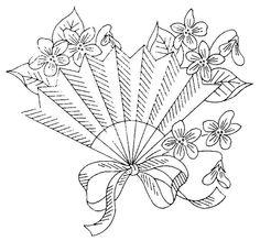 fan embroidery pattern - transfer