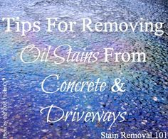 Stain removal on pinterest remove deodorant stains home for Motor oil stain removal from clothes