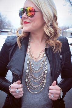 All Dolled Up Blog in our Raven + Lily Necklace! Thank you for sharing our story!