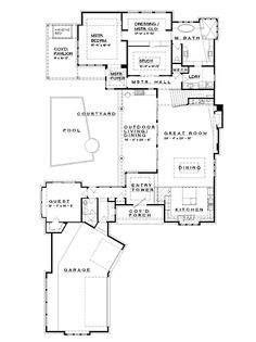 Home Plans HOMEPW75737 - 4,237 Square Feet, 4 Bedroom 4 Bathroom Prairie Home with 3 Garage Bays