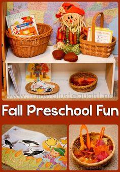 Fall Theme Preschool fun from @{1plus1plus1} Carisa