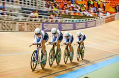 GB's women's team pursuit team Cali 2014