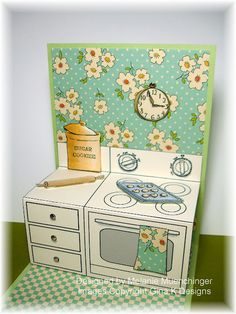 "Perfect Pattern Pop Up Oven from Gina K Designs - Coordinates with ""Have a Cookie"" set."