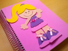 Como decorar um caderno em EVA para menina