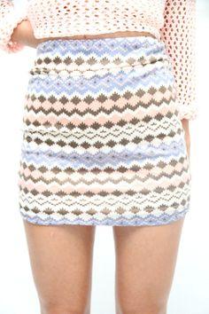 Printed bodycon skirt