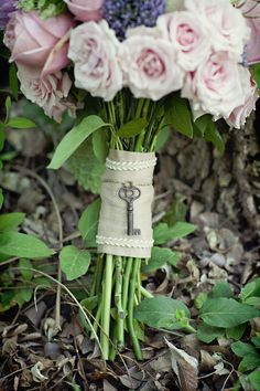 Antique Skeleton Keys on my bouquet!!!