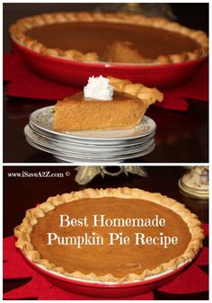 Here is the best homemade pumpkin pie recipe you will ever try. We have been making this simple pumpkin pie recipe for years! Once you try this one you will never
