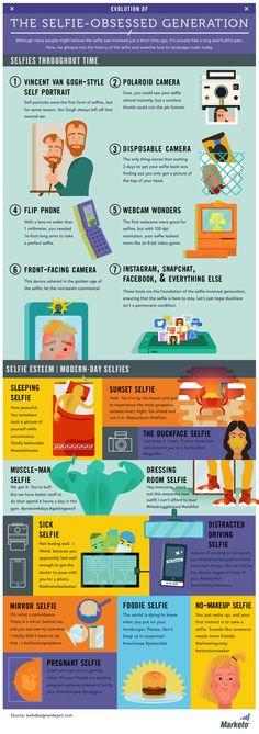 La historia de la obsesión Selfie #infografia #infographic #socialmedia