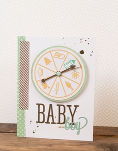 Silhouette America Blog | All Occasions Spinner Card | New Baby Card