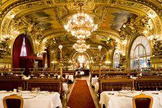 Gorgeous restaurant inside of a train station, Gare de Lyon in Paris, France. Le Train Bleu. Food was fantastic!!